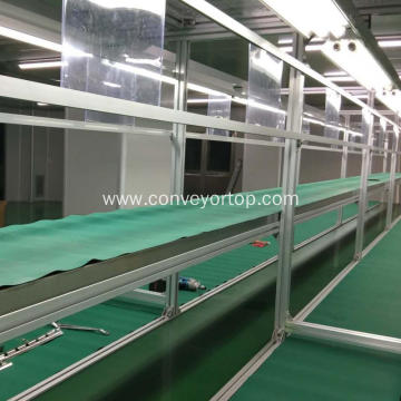 Adjustable Transparent Belt Conveyor Production Line